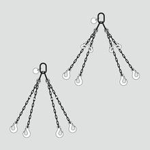 Textile Anschlagketten-Gehänge 4-strängig
