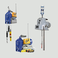 Wire rope traction hoists