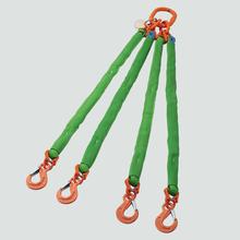 Polytex®-Rundschlingen-Gehänge 4-strängig mit Ösen-Lasthaken